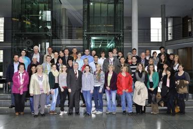 Besuchergruppe im Reichstag